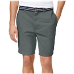 Club Room Mens Striped Belt Casual Chino Shorts