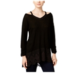 Style&co. Womens High-Low Knit Blouse