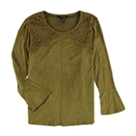 Style&co. Womens Lace Trim Pullover Blouse