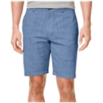Club Room Mens Micro-Check Casual Walking Shorts