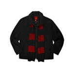 IZOD Mens Wool Blend Coat & Scarf Set Pea Coat