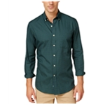 Club Room Mens Gingham Long Sleeve Button Up Shirt