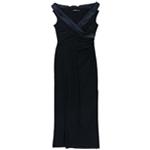 Ralph Lauren Womens Portrait-Collar Gown Dress