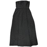 Ralph Lauren Womens Polka Dot A-line Gown Dress