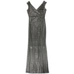 Ralph Lauren Womens Metallic Gown Dress