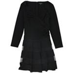 Ralph Lauren Womens Tulle-Trim Jersey Dress