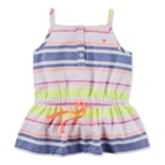 Carter's Girls Striped Sleeveless Tunic Blouse