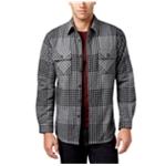 Club Room Mens Plaid Sherpa Shirt Jacket
