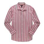 I-N-C Mens Multi Stripe Button Up Shirt