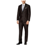 Kenneth Cole Mens Black Micro Stripe Two Button Suit