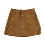 Ralph Lauren Womens Suede Mini Skirt
