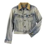 Ralph Lauren Womens Denim Cropped Jacket