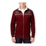 Club Room Mens Sherpa-Lined FZ Knit Sweater
