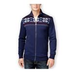 Club Room Mens Sherpa Lined FZ Knit Sweater