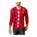 Club Room Mens Argyle Pullover Sweater