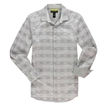 I-N-C Mens Retro Slim Fit Button Up Shirt