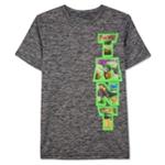 Nickelodeon Boys TMNT Vert Heathered Graphic T-Shirt