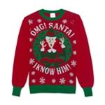 New Line Productions, Inc. Mens Omg Santa Knit Sweater