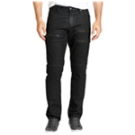 William Rast Mens Moto Straight Leg Jeans