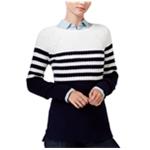 maison Jules Womens Cross-Stitch Knit Sweater