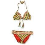 Lucky Brand Womens Santiago Side Tab U-Wire 2 Piece Bikini