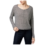 bar III Womens Printed Knit Pullover Blouse