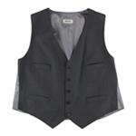 Kenneth Cole Mens Contrast Five Button Vest