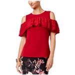 Thalia Sodi Womens Cold Shoulder Knit Blouse