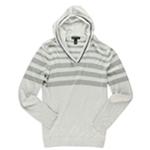 I-N-C Mens Striped Hooded Sweater