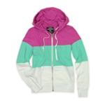 Ecko Unltd. Womens Colorblock Zip Front Hoodie Sweatshirt