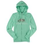 Ecko Unltd. Womens Worldwide Rhino Zip Up Hoodie Sweatshirt