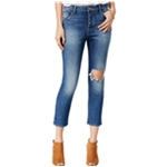 DL1961 Womens Ripped Goldie Straight Leg Jeans