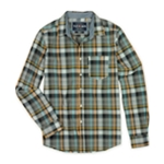 Ecko Unltd. Mens Neon Plaid Ls Button Up Shirt