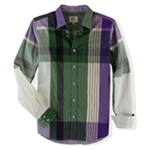 Ecko Unltd. Mens Bright Plaid Ls Button Up Shirt