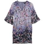 Nanette Lepore Womens Ombre Kimono Asymmetrical Dress