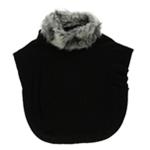 Style&co. Womens Dolman Faux Fur Poncho Sweater