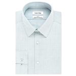 Calvin Klein Mens Steel Slim-Fit Button Up Dress Shirt