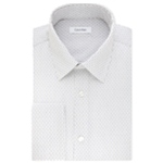 Calvin Klein Mens Classic Fit Broadcloth Button Up Dress Shirt