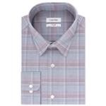 Calvin Klein Mens Plaid Steel Button Up Dress Shirt