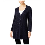 Style&co. Womens Marled Cardigan Sweater