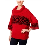 Style&co. Womens Fair-Isle Cowl Pullover Sweater