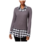 Style&co. Womens Layered-Look Pullover Sweater