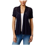 Style&co. Womens Cotton Texture Cardigan Sweater