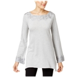 Style&co. Womens Tunic Top Lace-trim54.5 Pullover Blouse