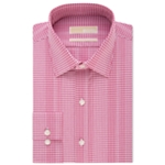Michael Kors Mens Classic Non-Iron Gingham Button Up Dress Shirt