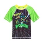 Nickelodeon Boys TMNT Rashguard Graphic T-Shirt