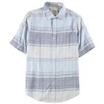 Tasso Elba Mens Cross-Dyed Plaid Button Up Shirt