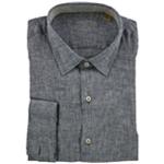 Tasso Elba Mens Linen Button Up Shirt