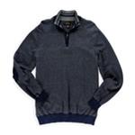 Tasso Elba Mens Tweed 1/4 Zip Pullover Sweater
