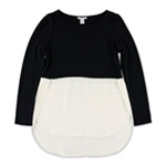 bar III Womens Color Blocked Pullover Blouse